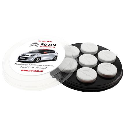 Bedrukt pepermuntschijfje met logopepermunt Citroën Rovam