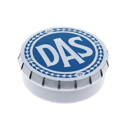 Bedrukt clic-clac pepermuntblikje voor DAS