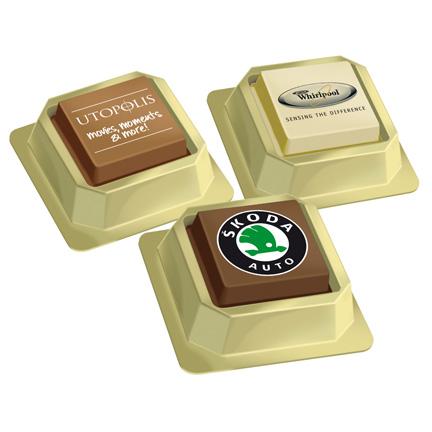 Logobonbons per stuk verpakt als smaakvolle attentie