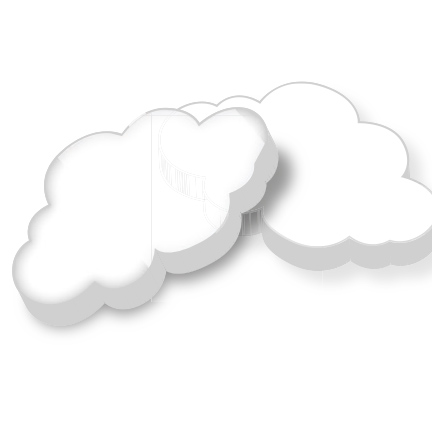 Pepermunt in de vorm van een wolk als weggevertje