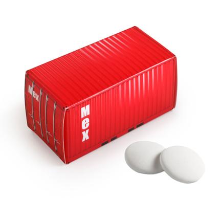 Gepersonaliseerde container met imperiales als stoere reclame