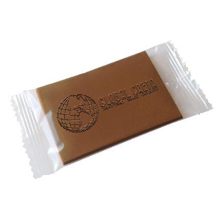 Chocolade creditcard met bedrijfslogo als weggevertje