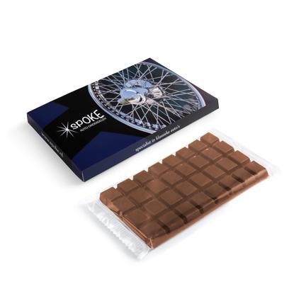 Chocoladereep met gepersonaliseerd doosje als relatiegeschenk