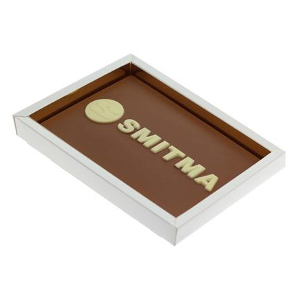 Chocoladeplak met bedrijfslogo als origineel relatiegeschenk