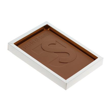 Gepersonaliseerde chocoladetablet met logo als give-away