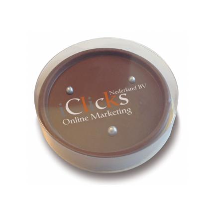 Chocoladespelletje bedrukt met uw logo als origineel relatiegeschenk