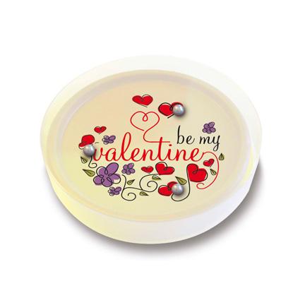 Full colour bedrukt chocoladespelletje als origineel relatiegeschenk