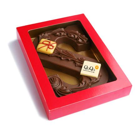 Bedrukte chocoladeletter met uw bedrijfslogo als relatiegeschenk