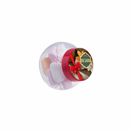 Gepersonaliseerd snoeppotje met logo als weggevertje
