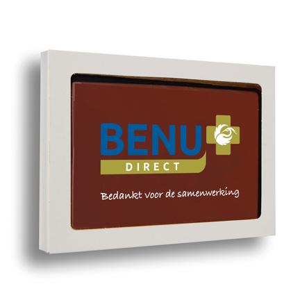 Chocoladeplak met logo als relatiegeschenk