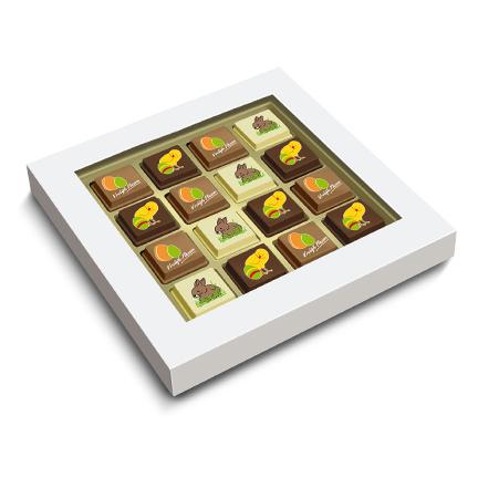 Bonbons met logo als paasgeschenk voor klanten