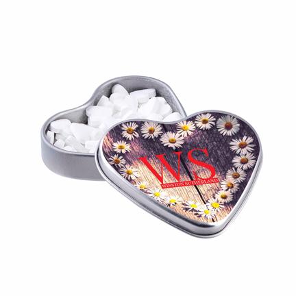 Logoblikje hartjes voor Valentijn als lief weggevertje