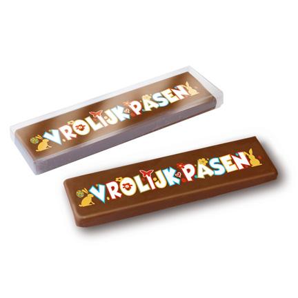 Chocoladereep voor Pasen als weggevertje aan zakenrelaties