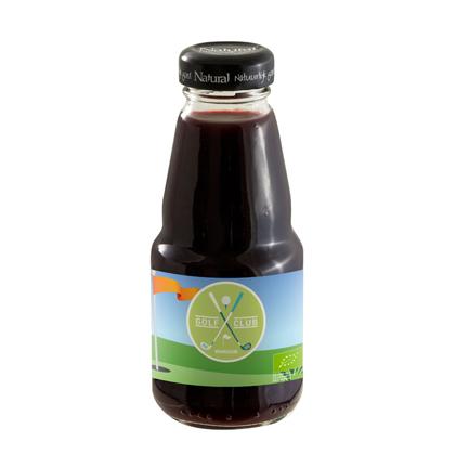 Bedrukt flesje biologisch sap als gezonde dorstlesser