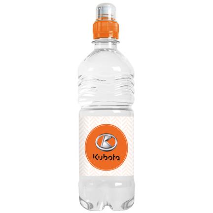 Sportieve waterfles met eigen label 500ml als weggevertje