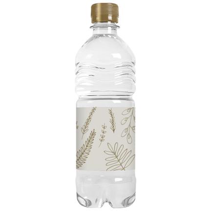 Grote waterfles met eigen label als dorstlessend weggevertje