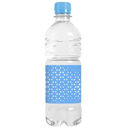 Waterfles met eigen ontwerp om weg te geven aan klanten