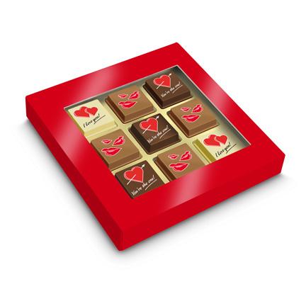 Logobonbons voor Valentijn als weggevertje aan klanten