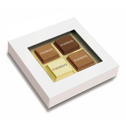 Logobonbons in een geschenkdoosje als cadeautje voor klanten