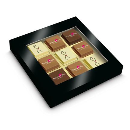 Bonbons met eigen bedrukking in een geschenkdoosje