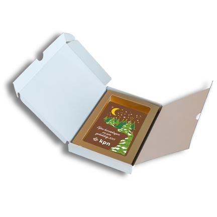 Chocoladekaart per stuk versturen naar klanten en relaties