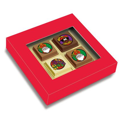 Bonbons voor Sinterklaas met of zonder logo als weggevertje aan klanten