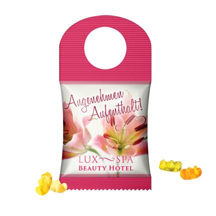 Bottlebag of deurhanger als zoet bedankje voor klanten