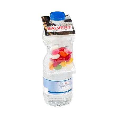 Combineer een bottlebag snoepzakje met een bedrukt waterflesje als promotiemiddel