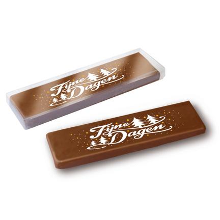 Chocolade kadoreep voor de Feestdagen weggeven aan klanten