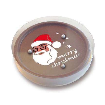 Chocolade spelletje als verrassing voor klanten met Kerst