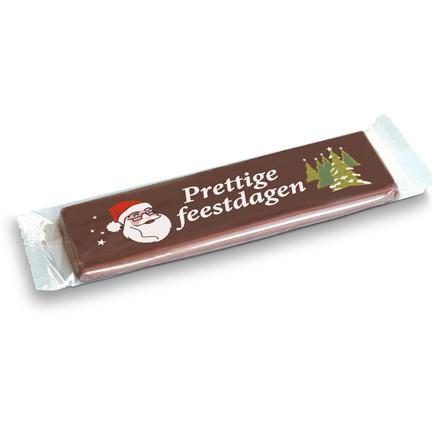 Chocoladereep met Kerstwens als give-away aan klanten