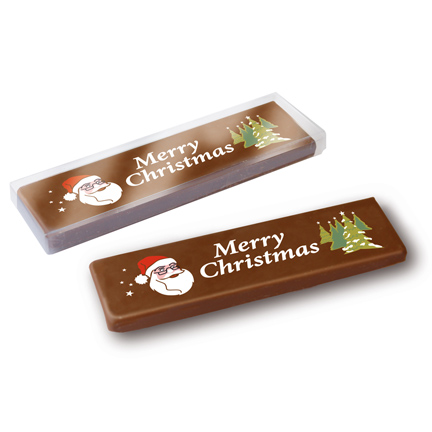 Chocoladereep met kerstwens als give-away voor Kerst