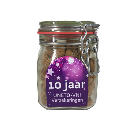 Sinterklaas snoeppot met pepernoten of strooigoed als weggevertje aan klanten