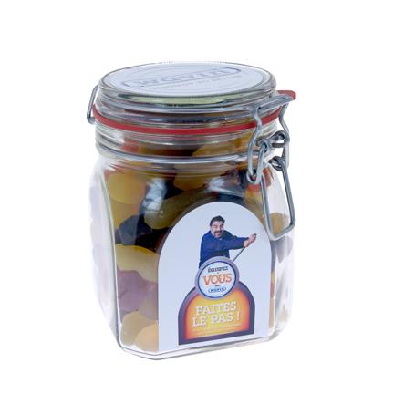 Heerlijk gevuld snoeppot met logo als give-away aan klanten