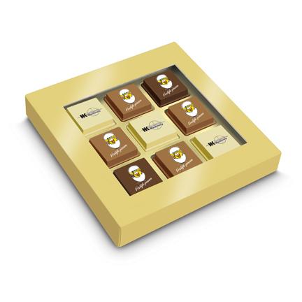 Paasbonbons met logo als smaakvol promotiemiddel