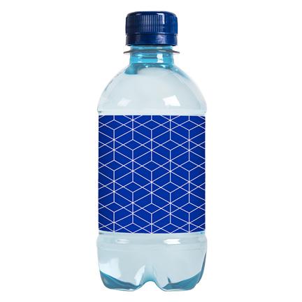 Blauw Waterflesje met eigen label