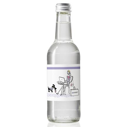 Gepersonaliseerd glazen Waterflesje als dorstlessend weggevertje