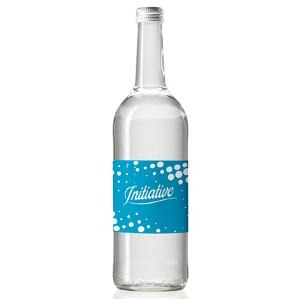 Glazen Waterfles met private label 750ml