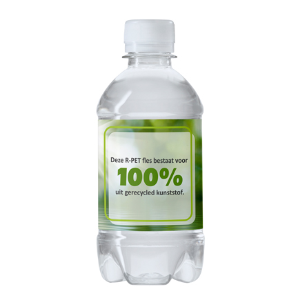 Private label Waterfles in een 100% gerecyclede PET fles