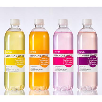 Detox vitamine Waterfles met logo 500ml