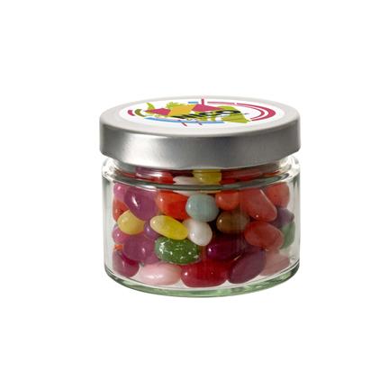 Snoeppotje jelly beans met logo als weggevertje