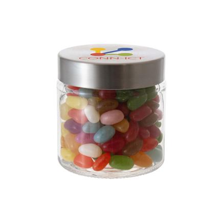 Snoeppotje jelly beans met logo als zoete give-away