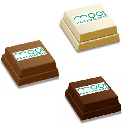 Pralines met logo als cadeautje voor klanten