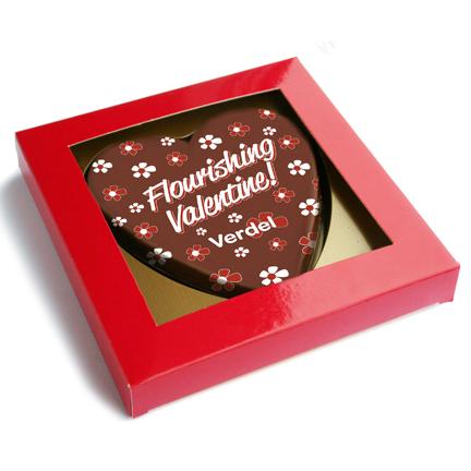 Chocoladehart met logo als give-away