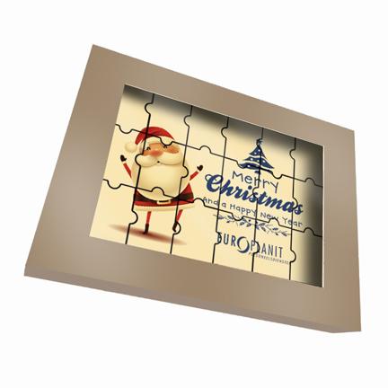 Chocoladepuzzel met logo als Eindejaarsgeschenk