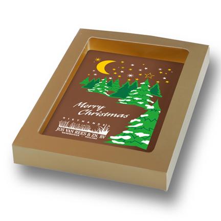 Chocoladekaart met logo als Eindejaarsgeschenk