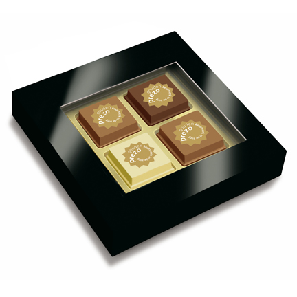 Pralines met logo versturen via de post