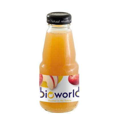 Flesje biologisch sap met logo