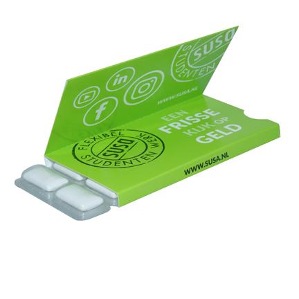 Pakje Sportlife kauwgom met flap bedrukt naar wens