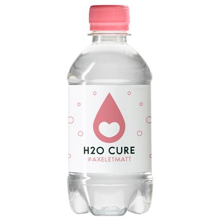 Waterflesje met logo als dorstlessend weggevertje